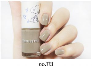 Innisfree 2018 Happy Snoopy Collection Real Color Nail no.113