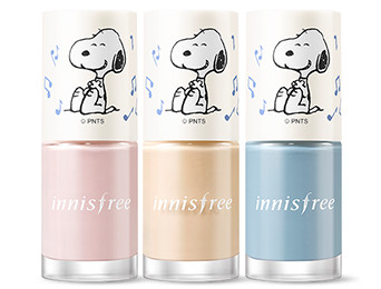 Innisfree 2018 Happy Snoopy Collection Real Color Nail