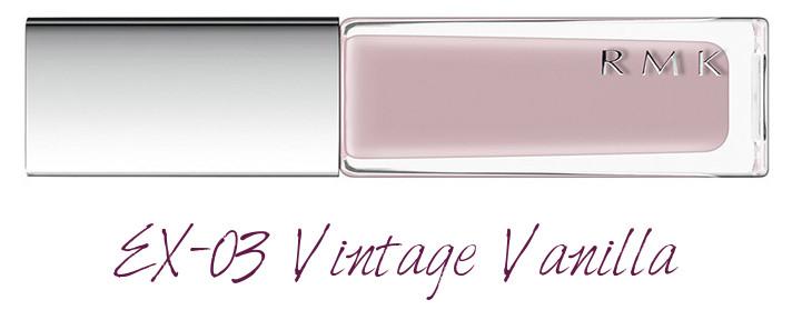 RMK 2018 Spring Summer Collection Chic Light Spring Nail Polish EX-03 Vintage Vanilla