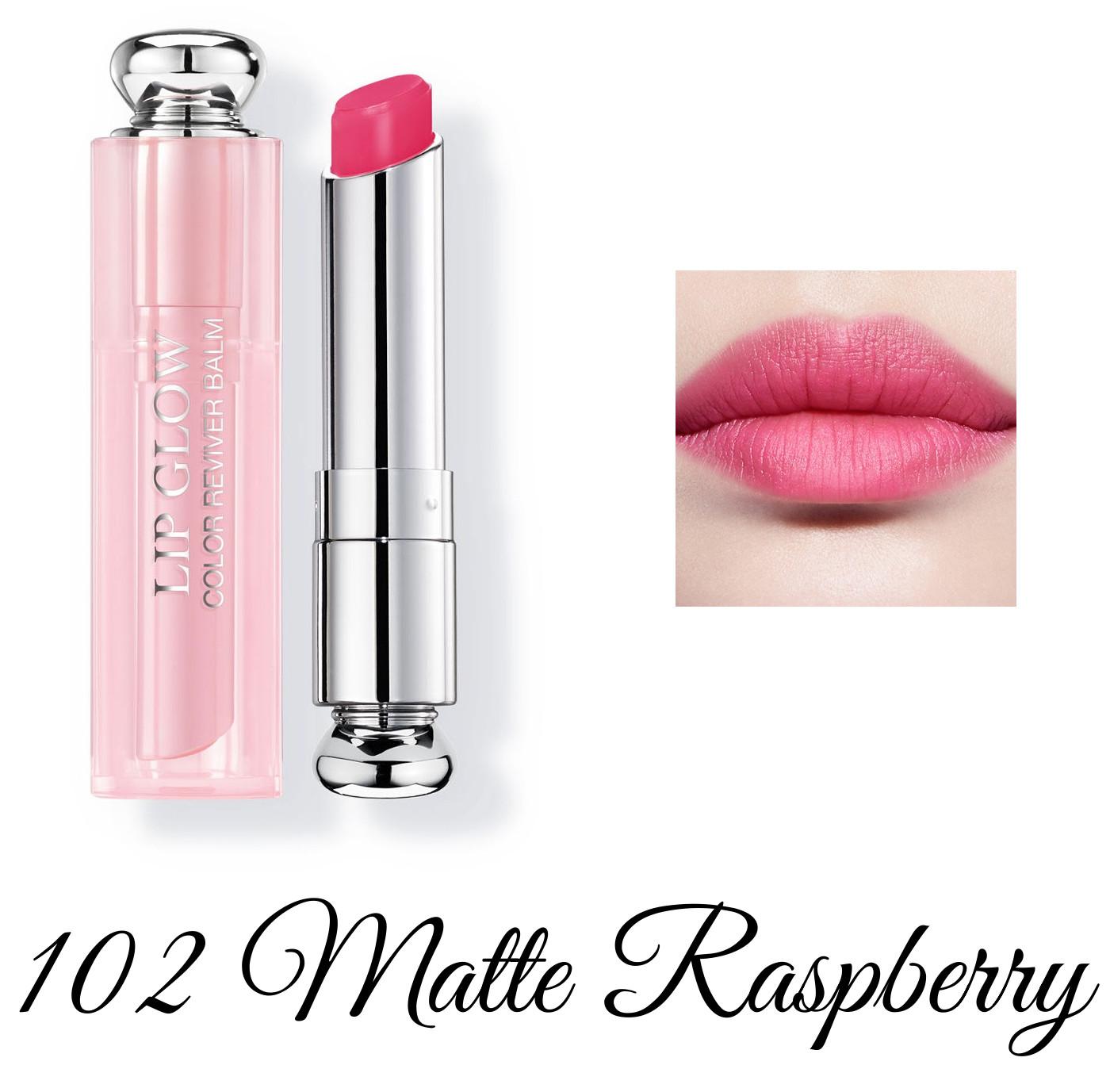 Dior Spring 2018 Collection GLOW ADDICT Dior Addict Lipglow 102 Matte Raspberry