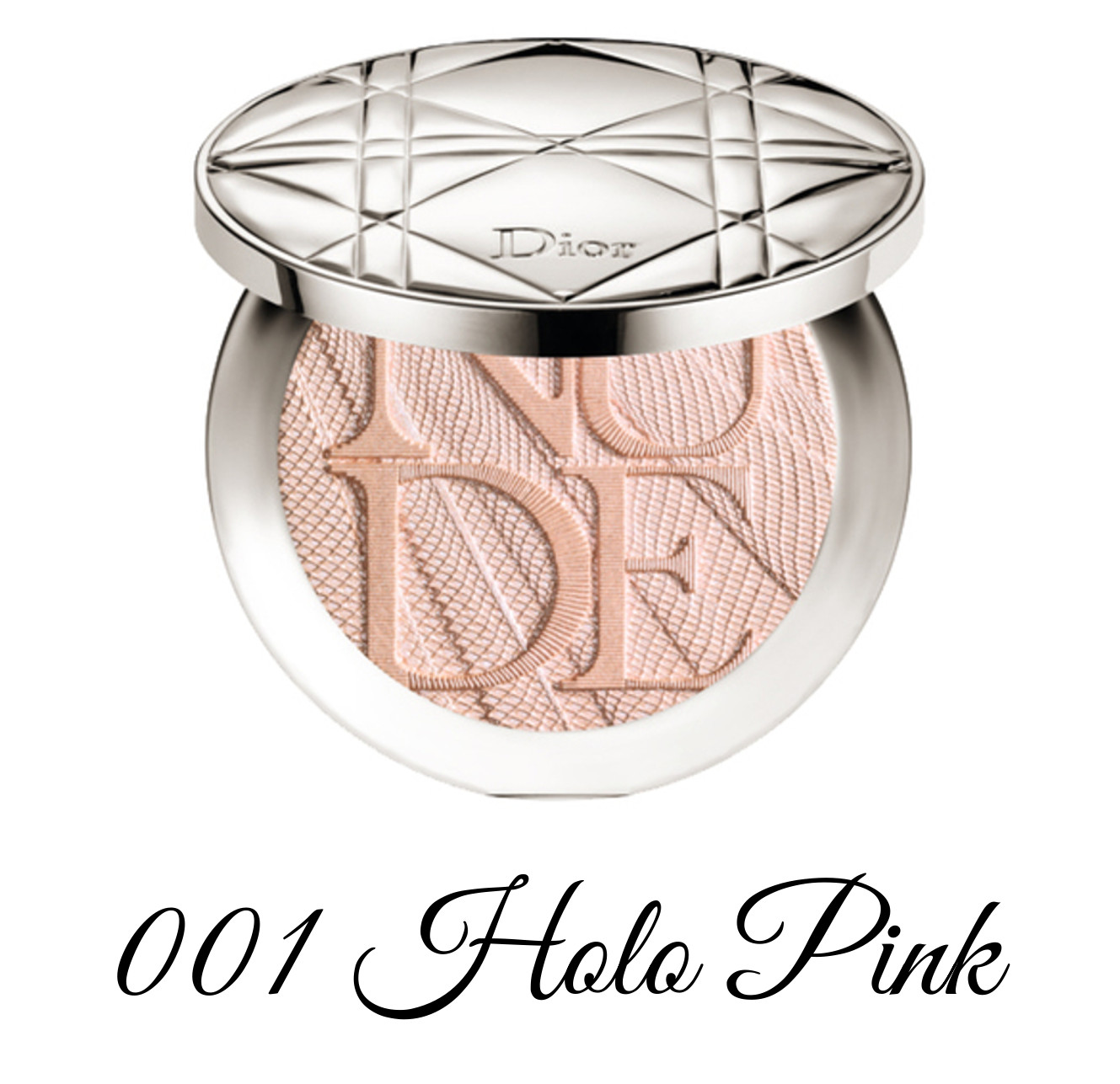 Dior Spring 2018 Collection GLOW ADDICT Diorskin Nude Air Powder Compact 001 Holo Pink