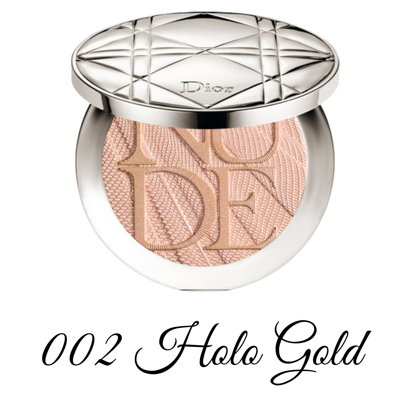 Dior Spring 2018 Collection GLOW ADDICT Diorskin Nude Air Powder Compact 002 Holo Gold