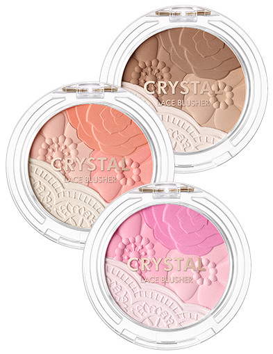 Tony Moly 2018 Spring Summer Fabric Collection Crystal Lace Blusher
