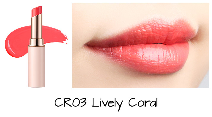 Tony Moly 2018 Spring Summer Fabric Collection Kiss Lover Style Lipstick CR03 Lively Coral