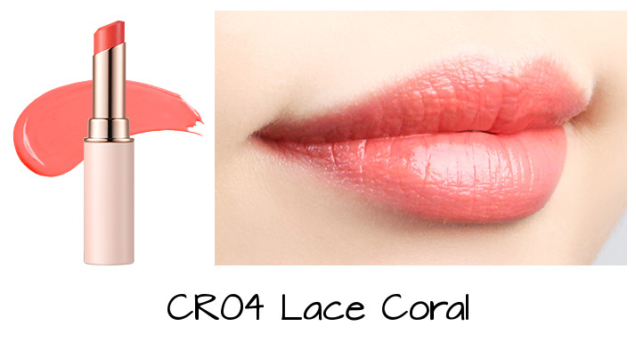 Tony Moly 2018 Spring Summer Fabric Collection Kiss Lover Style Lipstick CR04 Lace Coral