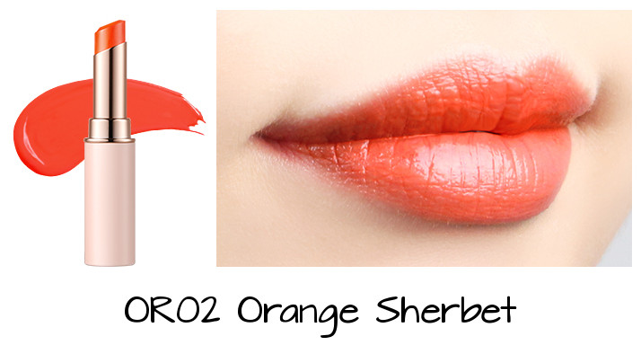Tony Moly 2018 Spring Summer Fabric Collection Kiss Lover Style Lipstick OR02 Orange Sherbet