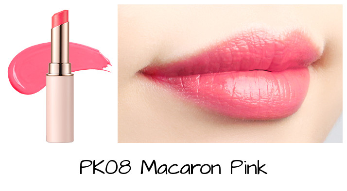 Tony Moly 2018 Spring Summer Fabric Collection Kiss Lover Style Lipstick PK08 Macaron Pink