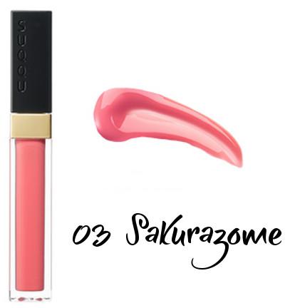 SUQQU 2018 Spring Color Collection Flawless Lip Gloss 03 Sakurazome
