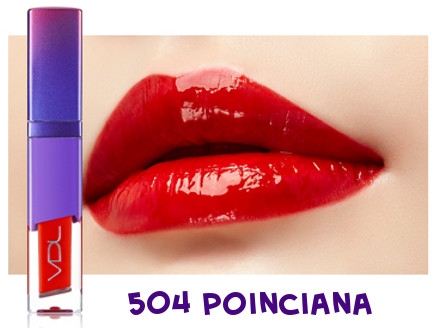 VDL 2018 Pantone Color Ulra Violet Expert Color Lip Cube Fluid Water 504 Poinciana