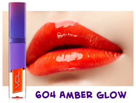 VDL 2018 Pantone Color Ulra Violet Expert Color Lip Cube Fluid Water 604 Amber Glow