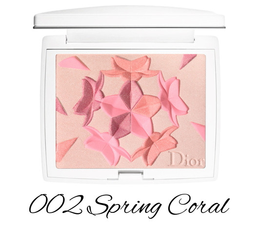 Dior Diorsnow Spring 2018 Collection Snow Blush & Bloom Powder 002 Spring Coral