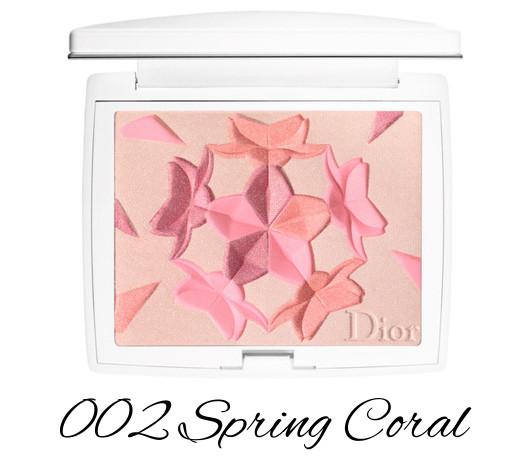 Dior Diorsnow Spring 2018 Collection Snow Blush & Bloom Powder 002 Spring Coral