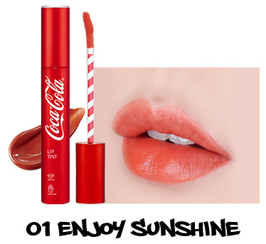 The Face Shop x Cola Cola Coca Cola Edition Coca Cola Lip Tint 01 Enjoy Sunshine