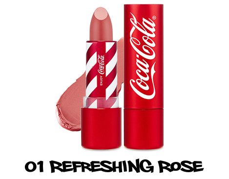 The Face Shop x Cola Cola Coca Cola Edition Coca Cola Lipstick 01 Refreshing Rose