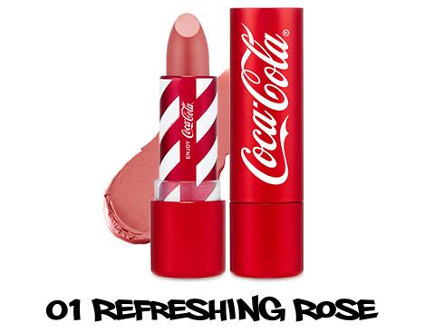 The Face Shop x Cola Cola Coca Cola Edition Coca Cola Lipstick 01 Refreshing Rose