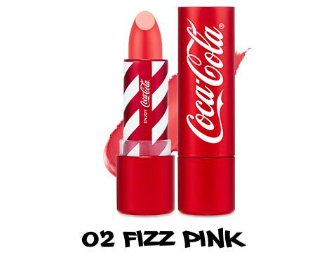 The Face Shop x Cola Cola Coca Cola Edition Coca Cola Lipstick 02 Fizz Pink