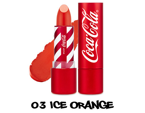 The Face Shop x Cola Cola Coca Cola Edition Coca Cola Lipstick 03 Ice Orange