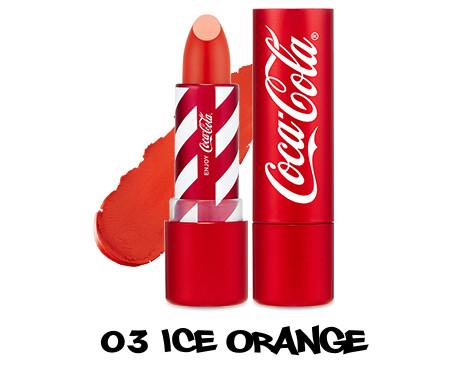 The Face Shop x Cola Cola Coca Cola Edition Coca Cola Lipstick 03 Ice Orange