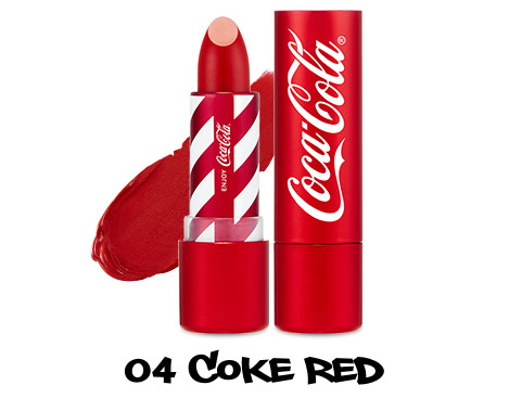 The Face Shop x Cola Cola Coca Cola Edition Coca Cola Lipstick 04 Coke Red