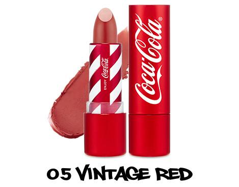 The Face Shop x Cola Cola Coca Cola Edition Coca Cola Lipstick 05 Vintage Red