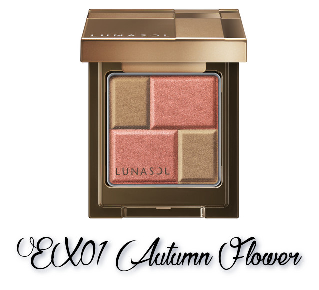 LUNASOL 2018 Autumn Makeup Collection Melting Color Eyes EX01 Autumn Flower