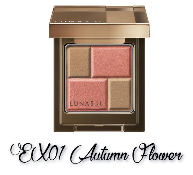 LUNASOL 2018 Autumn Makeup Collection Melting Color Eyes EX01 Autumn Flower