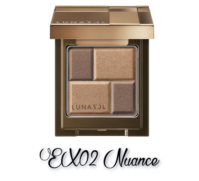 LUNASOL 2018 Autumn Makeup Collection Melting Color Eyes EX02 Nuance
