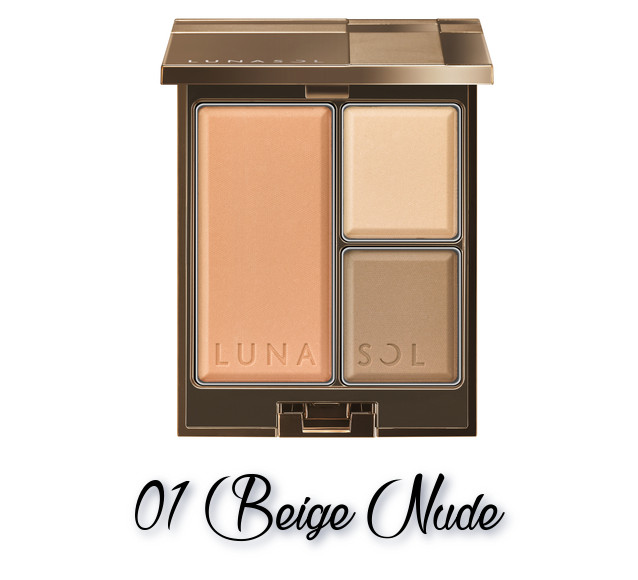 LUNASOL 2018 Autumn Makeup Collection Modeling Face Compact 01 Beige Nude