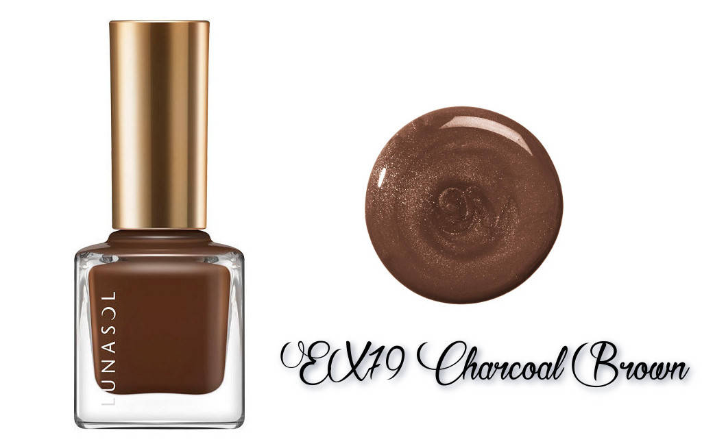 LUNASOL 2018 Autumn Makeup Collection Nail Finish N EX79 Charcoal Brown