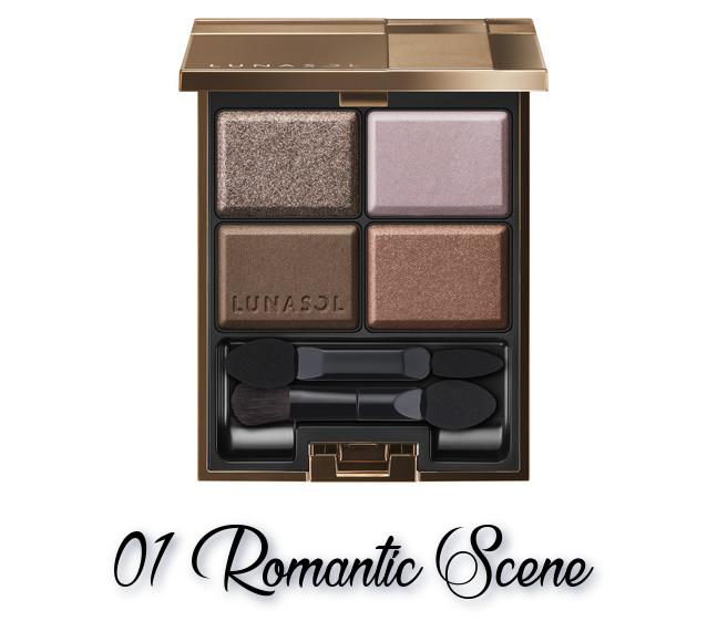 LUNASOL 2018 Autumn Makeup Collection Nuance Shadow Eyes 01 Romantic Scene