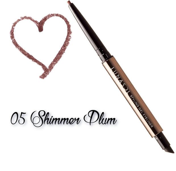 LUNASOL 2018 Autumn Makeup Collection Styling Gel Eyeliner 05 Shimmer Plum