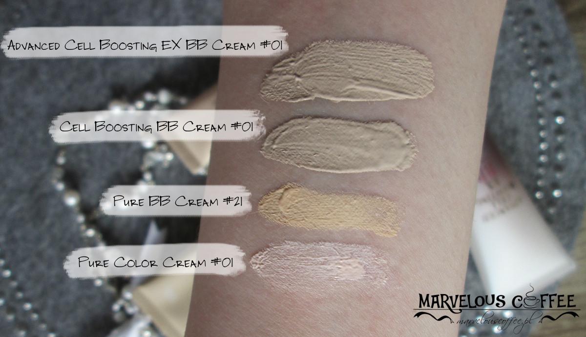 Nature Republic Advanced Cell Boosting EX BB Cream #01, Cell Boosting BB Cream #01, Pure BB Cream #21, Pure Color Cream #01