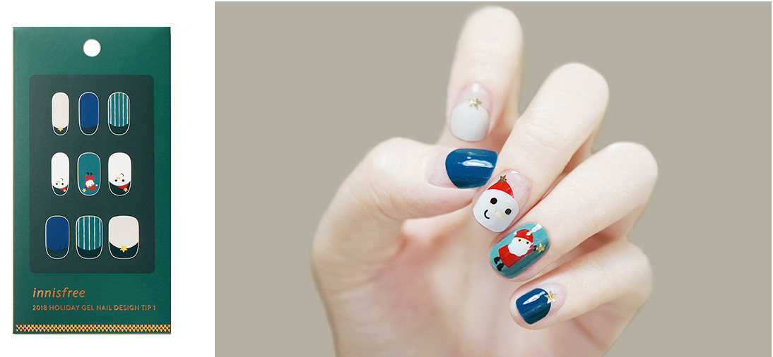 Innisfree 2018 Green Christmas Limited Edition Gel Nail Design Tip Tip 1