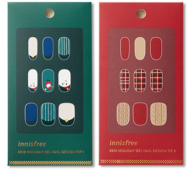 Innisfree 2018 Green Christmas Limited Edition Gel Nail Design Tip
