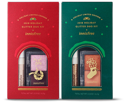 Innisfree 2018 Green Christmas Limited Edition Glitter Duo Kit