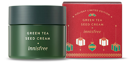 Innisfree 2018 Green Christmas Limited Edition Green Tea Seed Cream