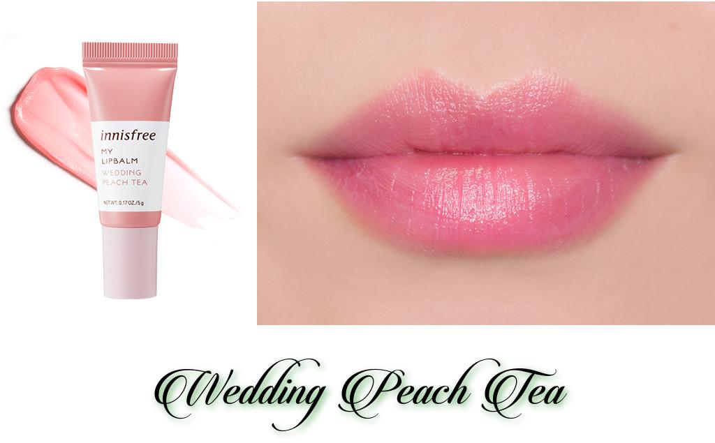 Innisfree 2018 Green Christmas Limited Edition My Lip Balm Best Collection Wedding Peach Tea