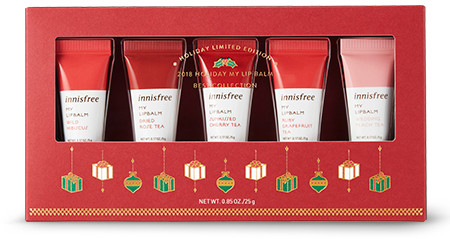 Innisfree 2018 Green Christmas Limited Edition My Lip Balm Best Collection