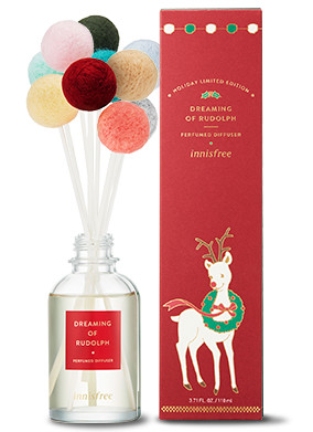 Innisfree 2018 Green Christmas Limited Edition Perfumed Diffuser Dreaming of Rudolph