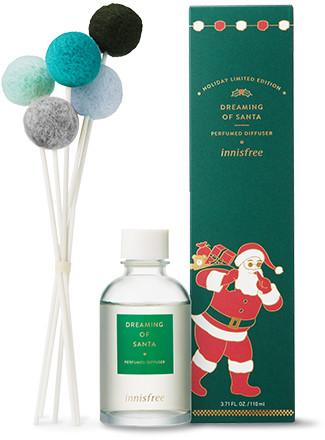 Innisfree 2018 Green Christmas Limited Edition Perfumed Diffuser Dreaming of Santa