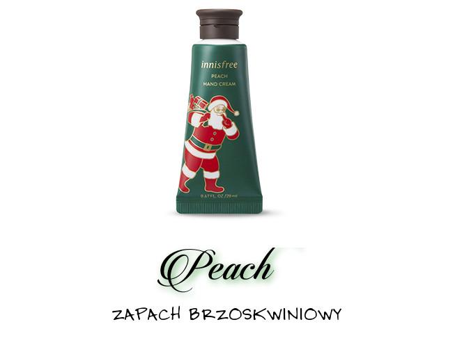 Innisfree 2018 Green Christmas Limited Edition Perfumed Hand Cream Miniature Set Peach
