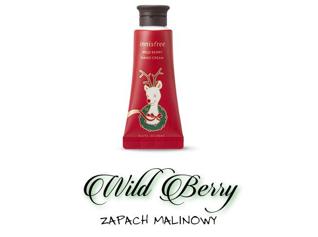 Innisfree 2018 Green Christmas Limited Edition Perfumed Hand Cream Miniature Set Wild Berry