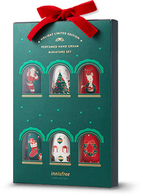 Innisfree 2018 Green Christmas Limited Edition Perfumed Hand Cream Miniature Set