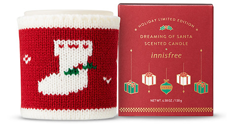 Innisfree 2018 Green Christmas Limited Edition Scented Candle Dreaming of Santa