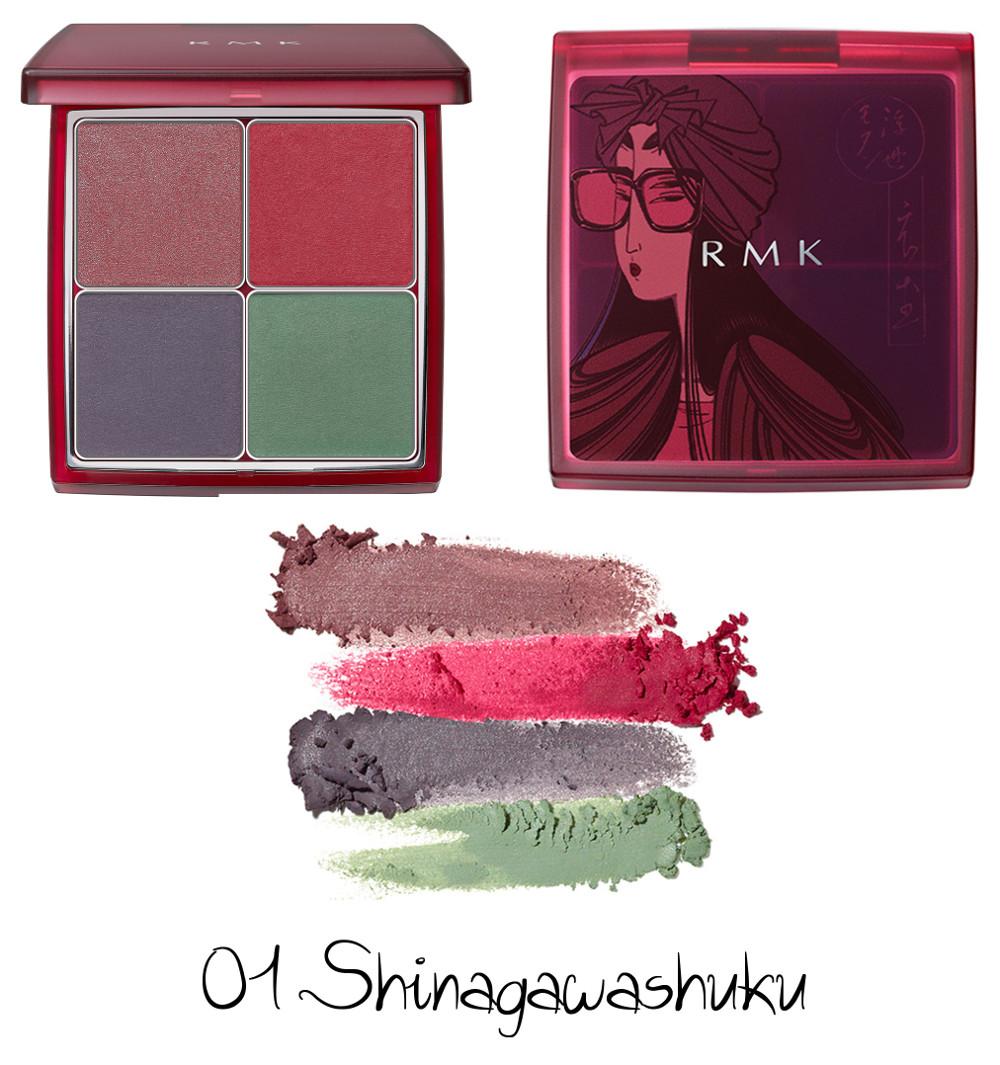 RMK Autumn Winter Collection 2020 Ukiyo Modern Eyeshadow Palette 01 Shinagawashuku