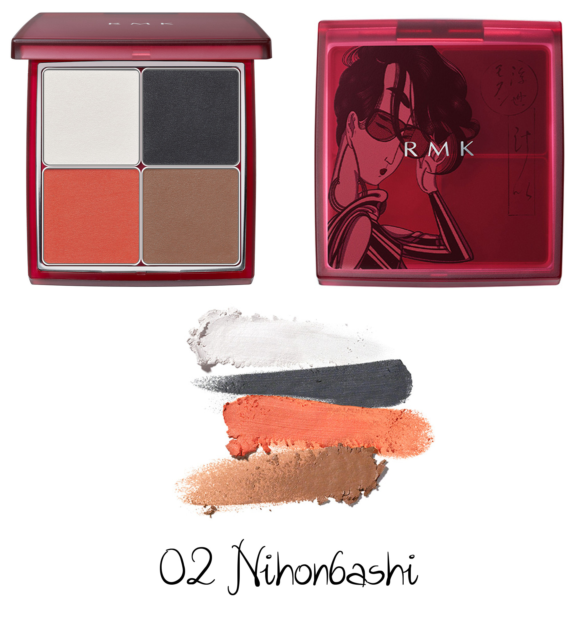 RMK Autumn Winter Collection 2020 Ukiyo Modern Eyeshadow Palette 02 Nihonbashi