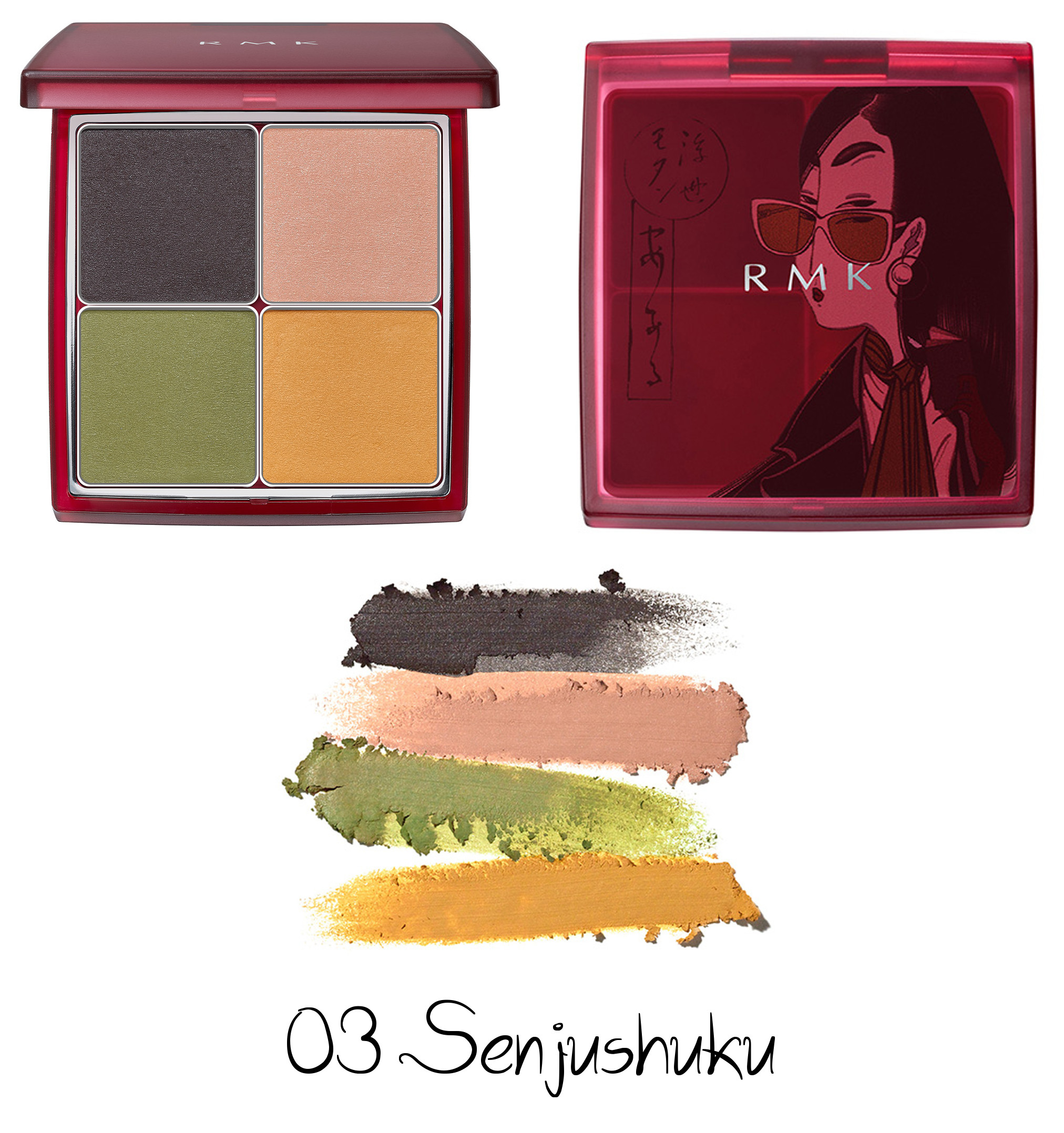 RMK Autumn Winter Collection 2020 Ukiyo Modern Eyeshadow Palette 03 Senjushuku