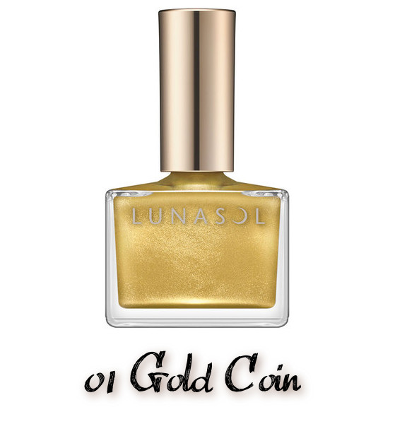 LUNASOL 2020 Autumn Collection New Chic Nail Polish 01 Gold Coin