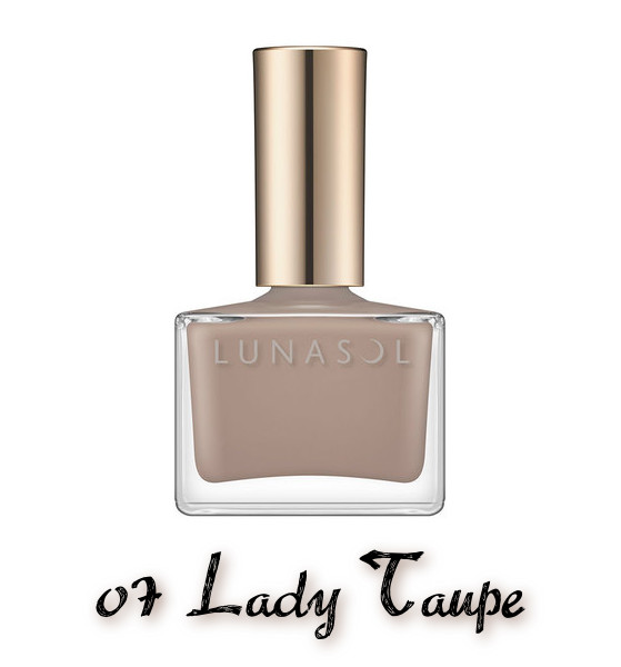 LUNASOL 2020 Autumn Collection New Chic Nail Polish 07 Lady Taupe