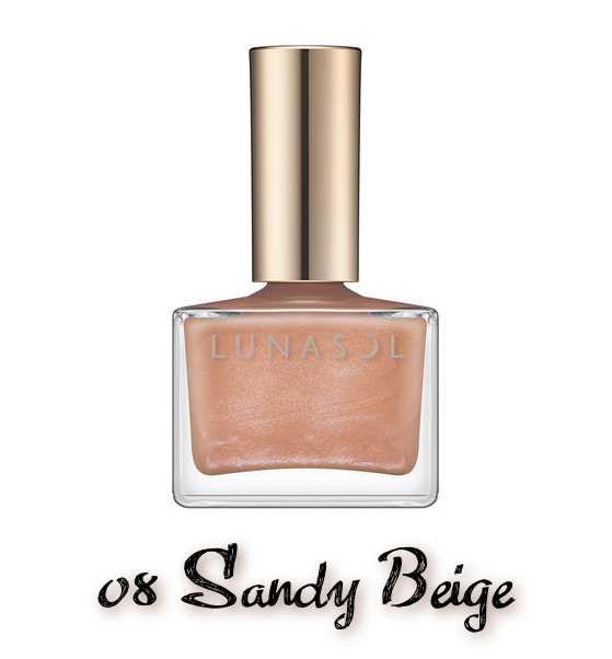 LUNASOL 2020 Autumn Collection New Chic Nail Polish 08 Sandy Beige